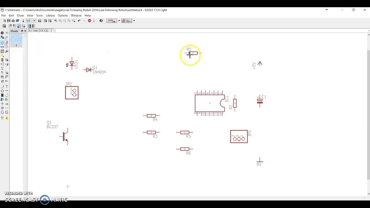 Lm324 Eagle Schematic Trusted Wiring Diagrams Circuit Diagram Line Following Robot Drawing Using Cad Youtube