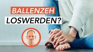 Hallux Valgus Behandlung - Diese 2 Übungen helfen gegen Ballenzeh! (Ohne Operation)