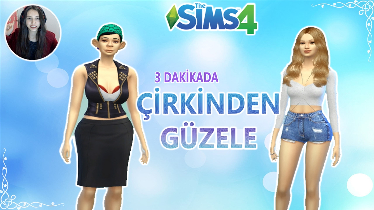 The Sims 4| Çirkinden Güzele Challenge [Ugly to Beauty] #1