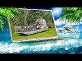 Очень удачная рыбалка День чистоты и лодка Амфибия AirBoat Алигаторы Центр города Майами mp3