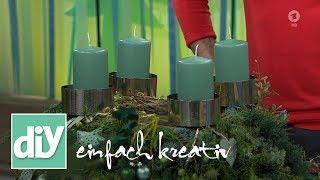 Adventskranz in Grüntönen | DIY einfach kreativ