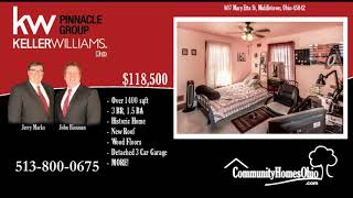 Middletown Homes for Sale  807 Mary Etta St, Middletown, OH 45042  3 Bdr Home