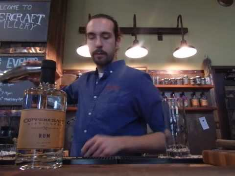 Coppercraft Distillery: Making of a Copper Blossom cocktail