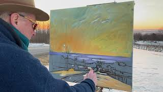 Seneca Winter Eve  Vid- Starting a plein air oil with Brian Keeler