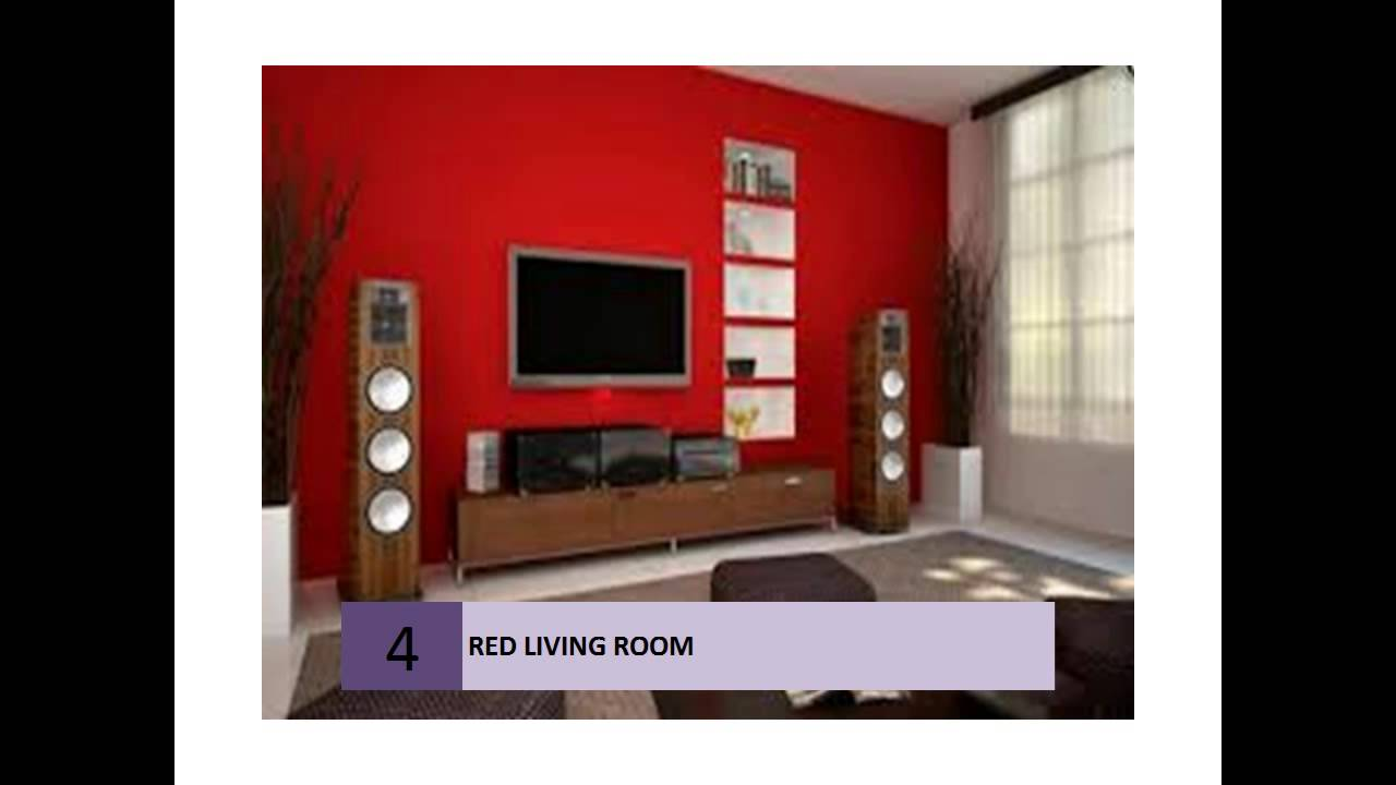 best red living rooms interior design ideas - youtube