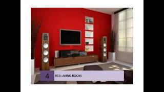 Best Red Living Rooms Interior Design Ideas