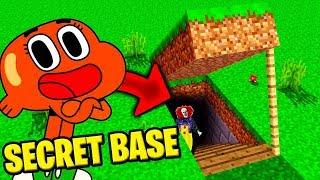 J'AI TROUVÉ LA BASE SECRETE DE DARWIN LE FRÈRE DE GUMBALL SUR MINECRAFT !!