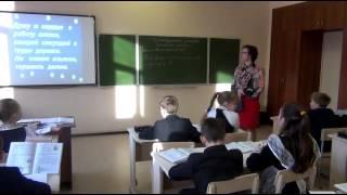 Видеоурок русского языка в 4 классе на тему