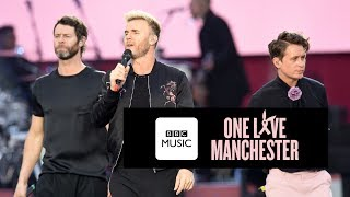Take That perform Shine at One Love Manchester. Visit the BBC Music...