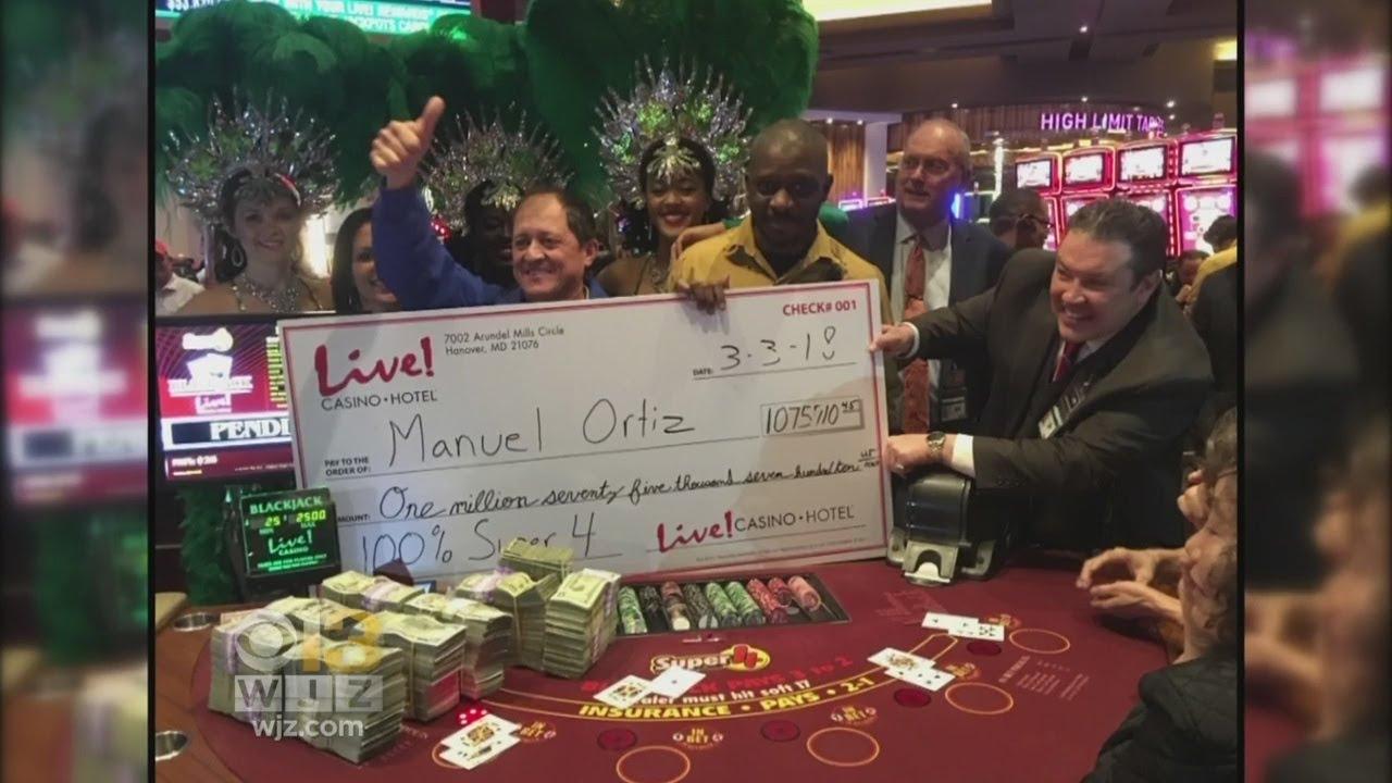 Man Turns 5 Into 1 Million At Maryland Live Casino Youtube