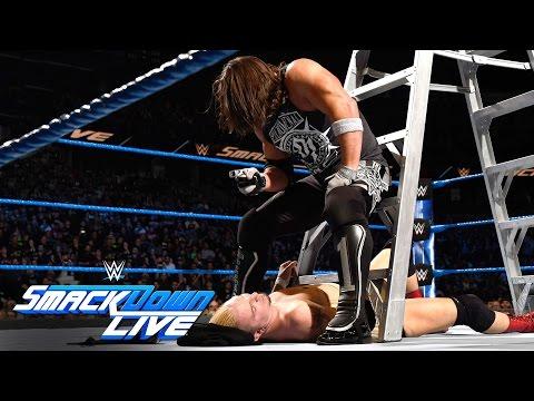 James Ellsworth vs WWE World Champion AJ Styles- Contract Ladder Match: SmackDown LIVE, Nov 22, 2016