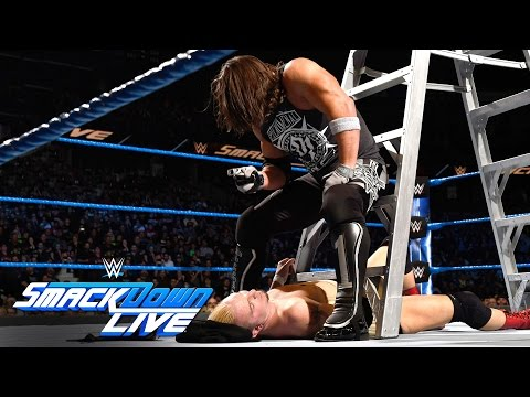 Thumbnail: James Ellsworth vs WWE World Champion AJ Styles- Contract Ladder Match: SmackDown LIVE, Nov 22, 2016