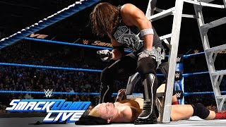 James Ellsworth vs WWE World Champion AJ Styles- Contract Ladder Match: SmackDown LIVE, Nov 22, 2016