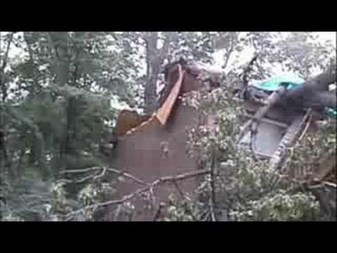 Cincinnati Wind Storm Damage 9-14-08 Part 1