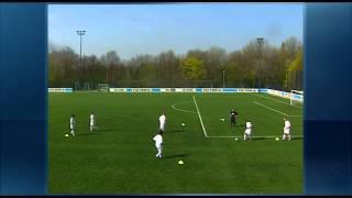 Fussball Training: U19 Schalke 04 Angriffsfussball - Wandspiel (Doppelpass) in der Raute