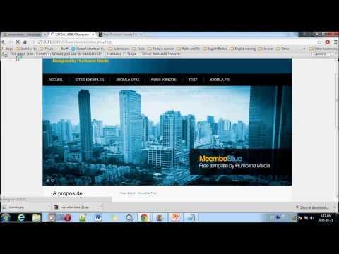 Video 1 - GIE6030 - Joomla 3.1.5 Et EasyPHP