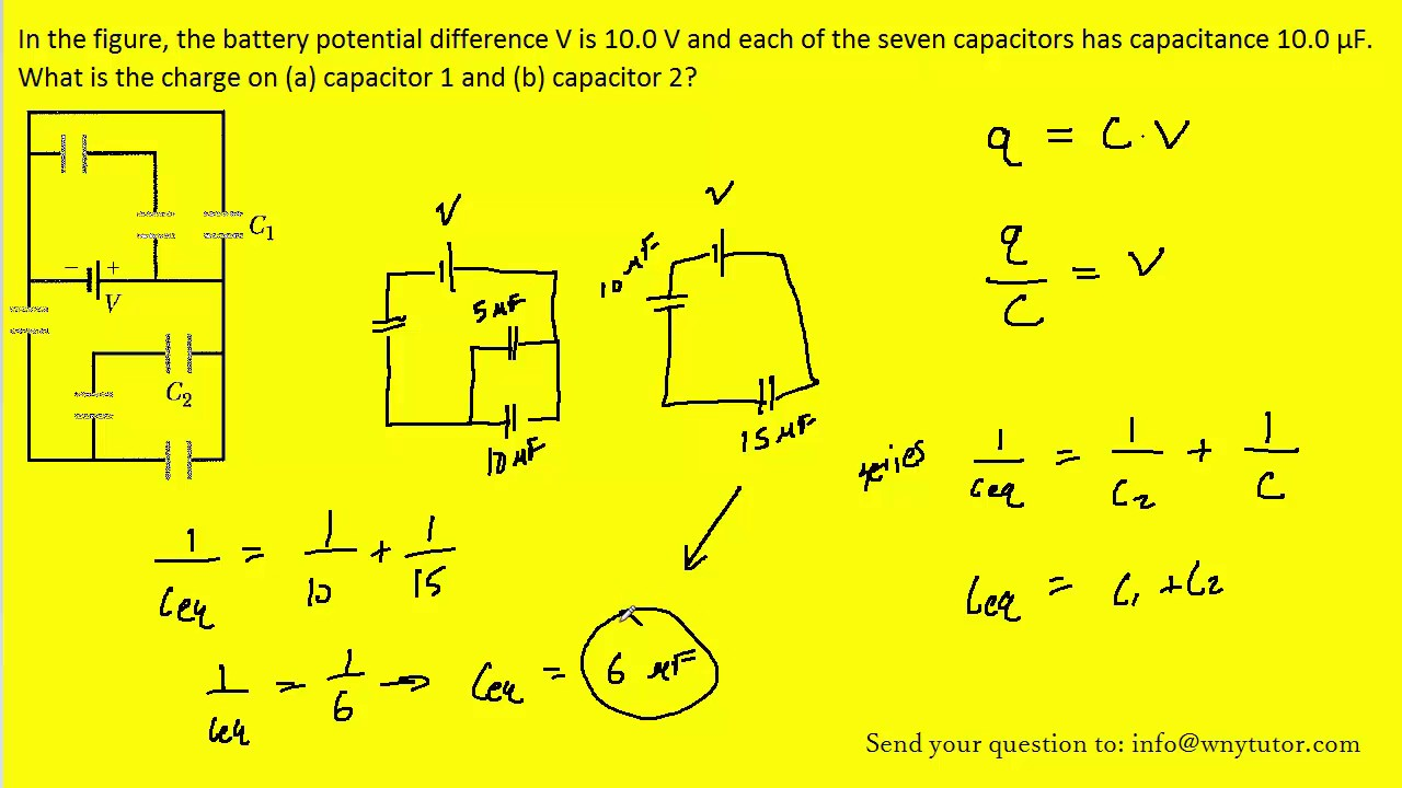 In The Figure The Battery Potential Difference V Is 100 V And Each