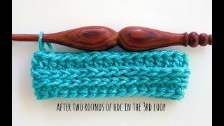how to crochet half double crochet in the third loop