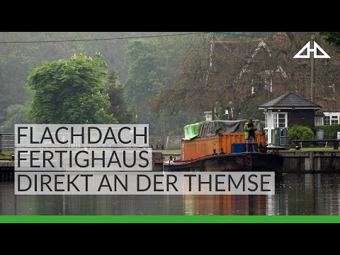 HUF House Construction Documentary - Flat roof prefab - River Thames
