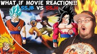 [What-If MOVIE] Super Goku VS GT Goku (DBS Manga VS DBGT, SSJB VS SSJ4) REACTION!!!