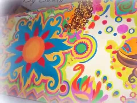 Como reciclar y pintar a mano una mesa dise os nicos - Disenos muebles pintados ...