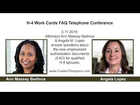 3/11/15 → H-4 Work Cards Cowles & Thompson FAQ Telephone Conference