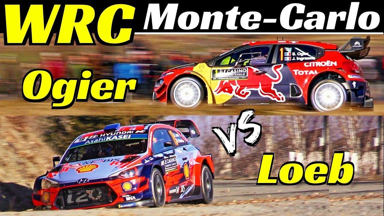 WRC Rallye Monte-Carlo 2019 - Sébastien Ogier Vs Sébastien Loeb - Comparison, Flatout & Max Atta