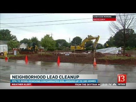 EPA to clean up yards contaminated with lead