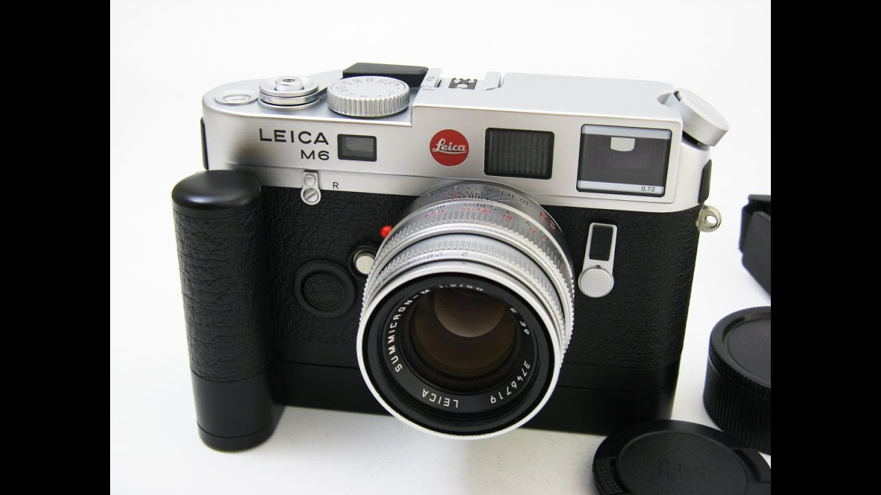Leica m6ttl silver chrome leica motor m 14408 m for M and m motors