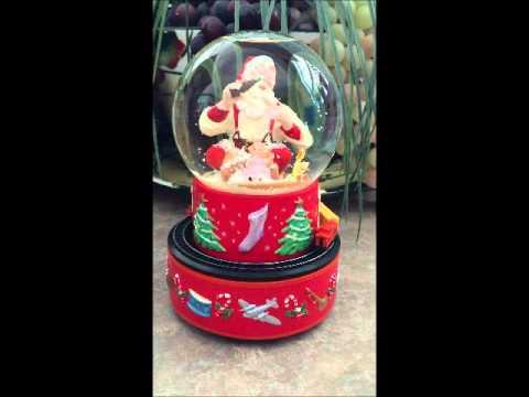 Christmas Hallmark Coca Cola Musical Snowglobe Santa Claus with Moving Train