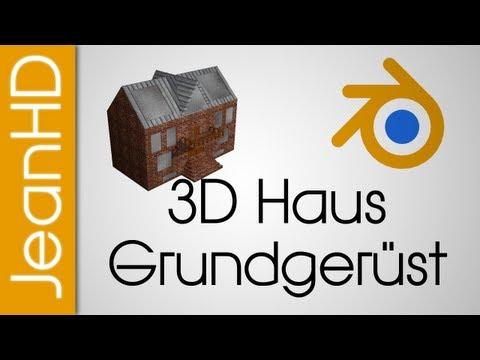 3D Haus Part 1 – Grundstruktur + Gaube mit Fenstern – Blender Tutorial
