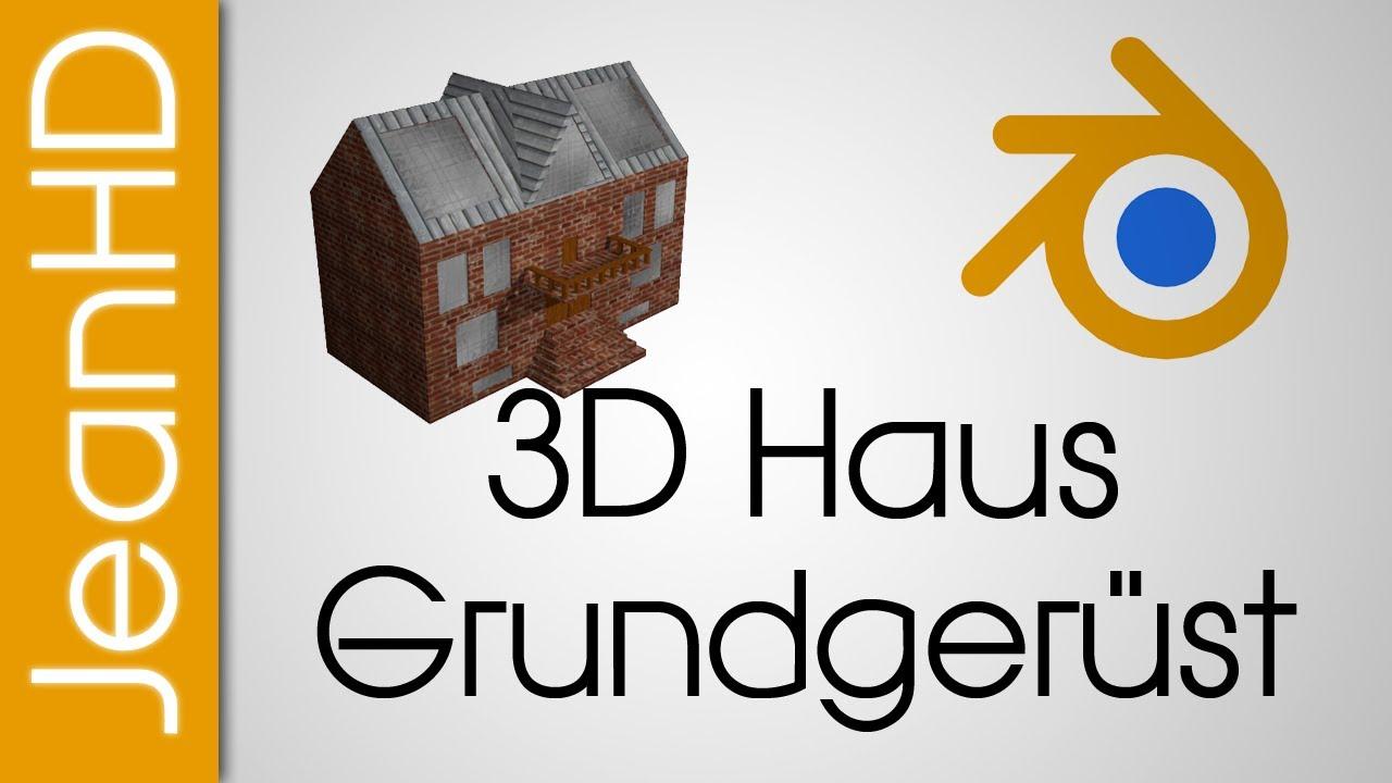 3D Haus Part 1 - Grundstruktur + Gaube mit Fenstern - Blender ...