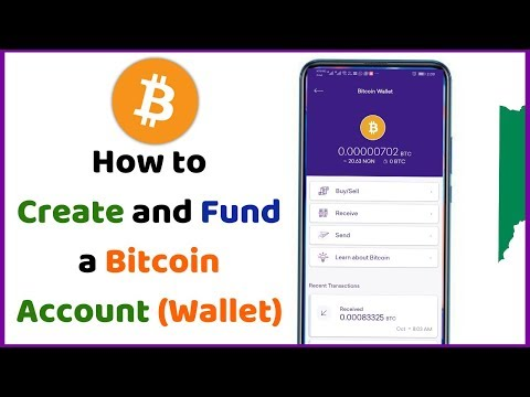 How To Create And Fund A Bitcoin Account