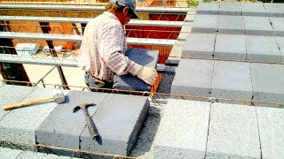 Budowa domu. Część 3 - Strop teriva, ułożenie belek i pustaków
