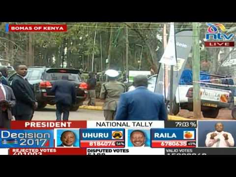 Raila Odinga departs from Bomas of Kenya