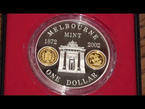 2002 One Ounce Silver Coin Celebrating 130th Anniversary of Melbourne Mint