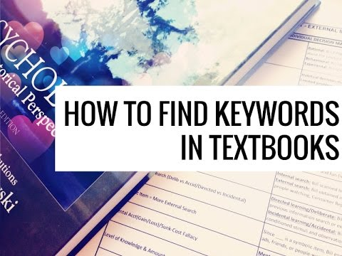 Finding Key Words: Complicated Textbooks