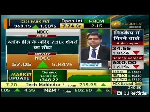 Sandeep Jain advised on NBCC on 28 Dec 18 at Zee Business