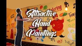 كيفية إنشاء مطعم (الجدار) اللوحة   ز أهوجا الفنون   2K19