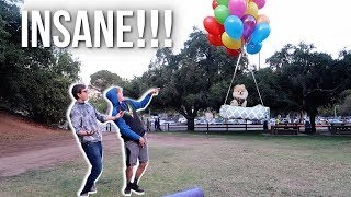 FLYING MY DOG WITH GIANT HELIUM BALLOONS