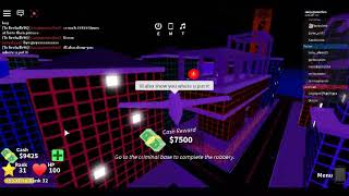 Getting golden key in Mad City for death ray Roblox
