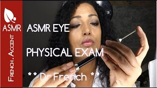 ASMR physical eye exam roleplay 🔍 [french accent] How to measure sight * Medical Check up hypnosis