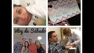 VLOG DE SÁBADO (Chá de bebê de seguidora, hospital...)