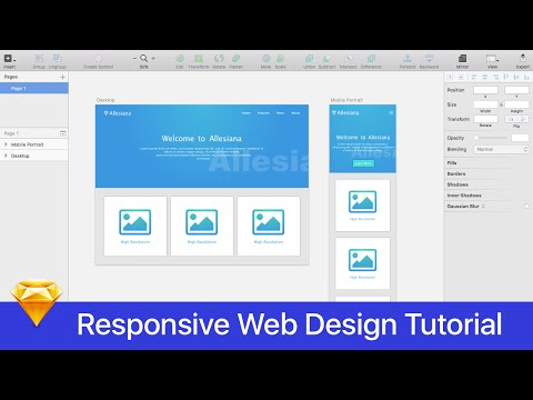 Sketch 3 Tutorial || Responsive Web Design || Part 1