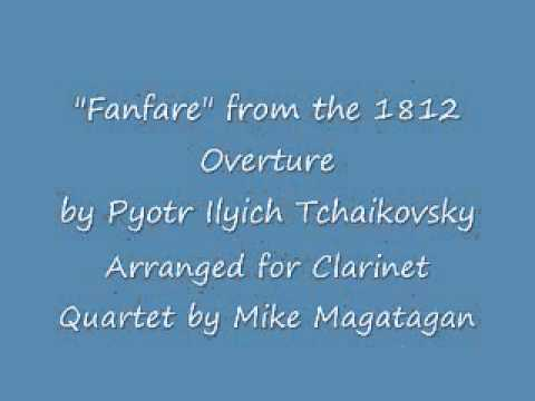 Fanfare from the 1812 Overture for Clarinet Quartet