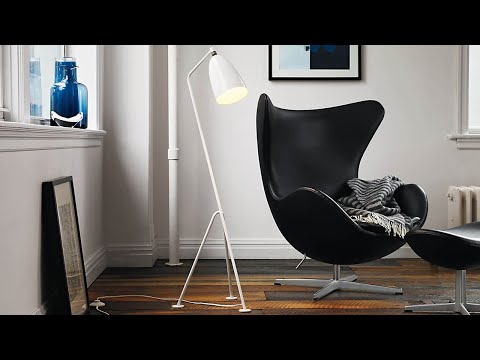 Egg Chair Cognac.Egg Chair Cognac Leer Youtube