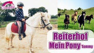 Auf dem Reiterhof 🐴 Mein Pferd Tommy! Reiten lernen ohne Zügel | Pony putzen & Galopp | Clarielle