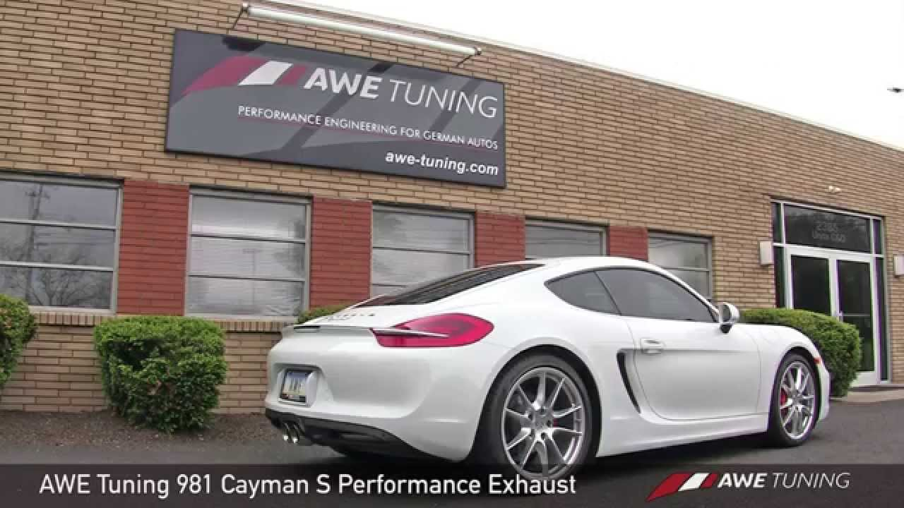awe tuning porsche 981 cayman s performance exhaust. Black Bedroom Furniture Sets. Home Design Ideas