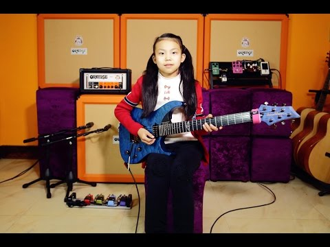 A 10 year old girl YOYO(Pinxi Liu)Cover Fuzz Universe-Paul Gilbert