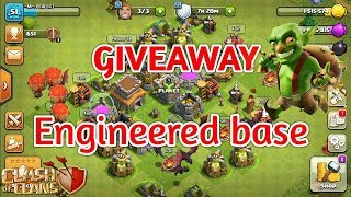 Pushing TH9 to Legend and Engineered base giveaway at 300 subscription !